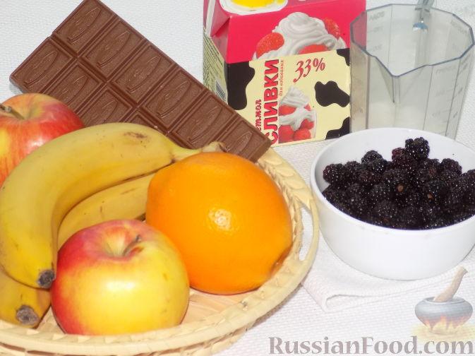 Салаты фруктовые сливками рецепт