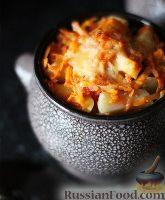 Фото к рецепту: Свинина с картофелем и овощами (в горшочках)