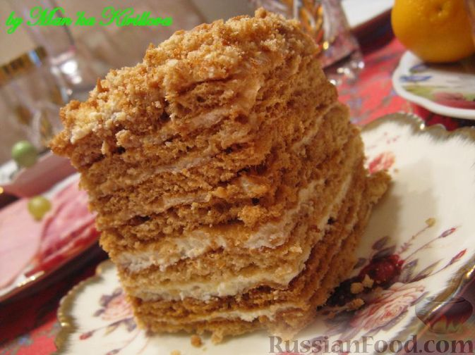 Рецепт медовика в домашних