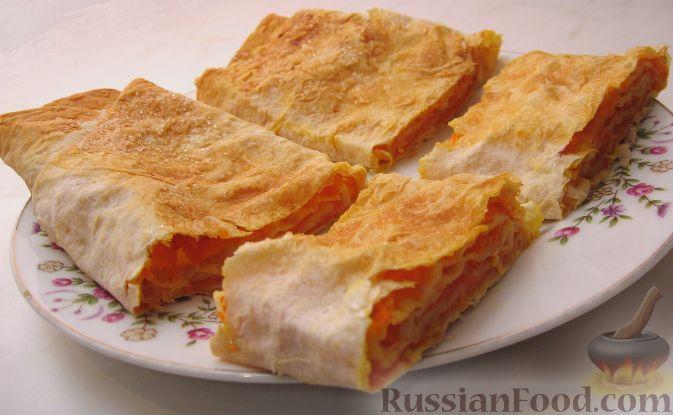 Рецепт Вертута с тыквой (из лаваша)