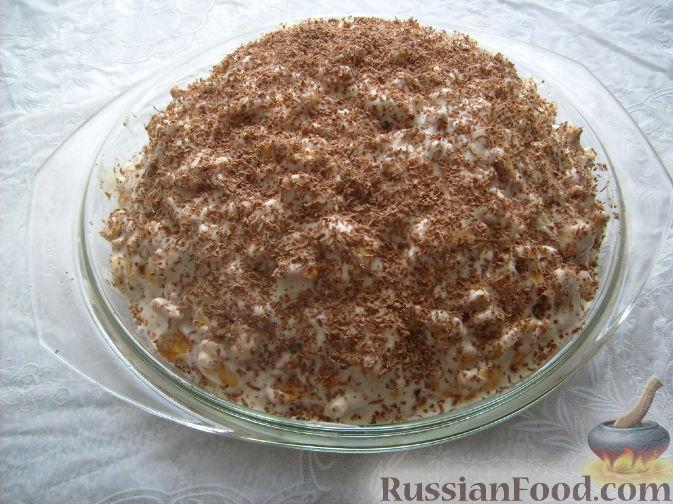 Рецепт торта из печенья рыбки и сметаны
