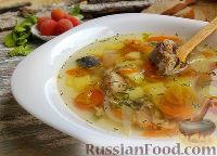 Фото к рецепту: Суп из консервированной сардины, с помидорами