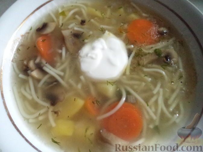 Куриный суп с лапшой. Пошаговый рецепт с фото - Кушать нет