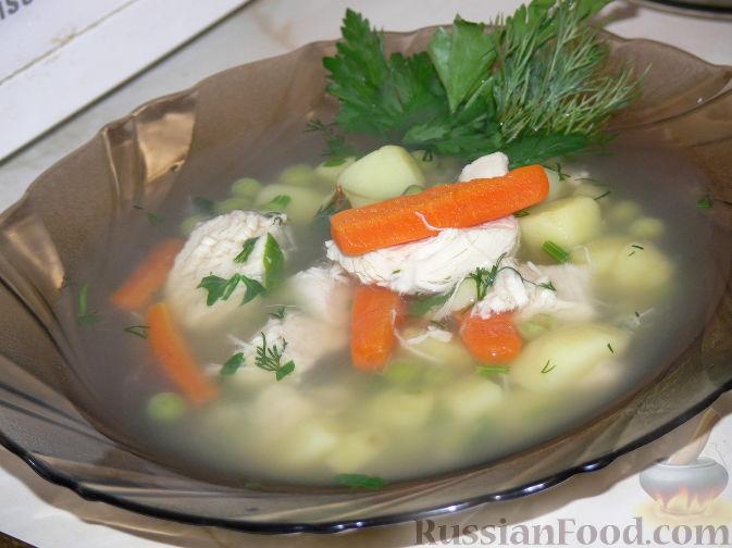 Приготовить суп из куриной грудки