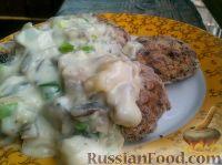Фото к рецепту: Грибной белый соус