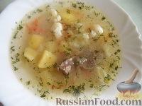 Фото к рецепту: Суп из говядины, с цветной капустой