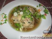 Фото к рецепту: Канедерли с грибами и окороком, в бульоне