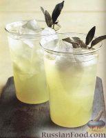 Фото к рецепту: Лимонад с листочками шалфея