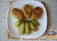 Котлеты из картофельного пюре с яблоком и морковью на сковороде - рецепт пошаговый с фото