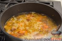 Фото приготовления рецепта: Сырный суп с копчеными колбасками - шаг №3