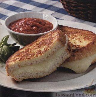 Рецепт Бутерброды с моцареллой