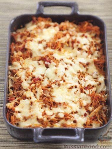 Рецепт Вермишелевая запеканка с куриным мясом