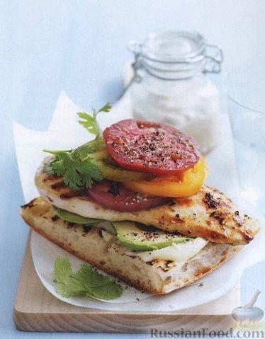 Рецепт Бутерброд с куриным филе