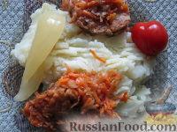 Фото к рецепту: Хек под маринадом в томатном соусе