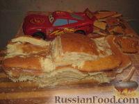 """Фото приготовления рецепта: Торт """"Машинка Маккуин"""" (Тачки) (пошагово) - шаг №19"""