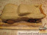 """Фото приготовления рецепта: Торт """"Машинка Маккуин"""" (Тачки) (пошагово) - шаг №21"""