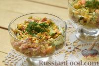 Фото к рецепту: Салат с ветчиной и кукурузой