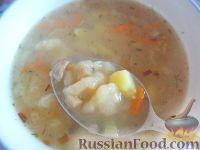 Фото к рецепту: Суп с клецками (постный) (4 порции)