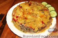 Фото к рецепту: Запеканка с фаршем и овощами (в мультиварке)