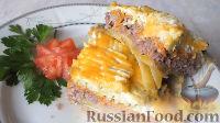 Фото к рецепту: Кабачки, запеченные с фаршем в духовке