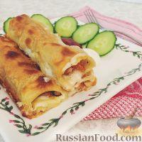 Фото к рецепту: Фаршированные макароны под соусом бешамель