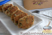 Фото к рецепту: Рыбные котлеты с овсянкой и зеленью (в мультиварке)