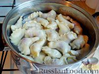 Фото приготовления рецепта: Вареники с черешней (на заварном тесте) - шаг №12