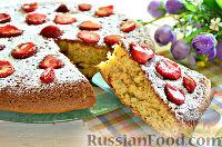 Фото к рецепту: Торт с маком и клубникой