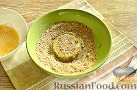 Фото приготовления рецепта: Кабачки в панировочных сухарях, запеченные в духовке - шаг №8