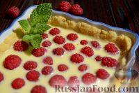 Фото к рецепту: Малиновый тарт с белым шоколадом
