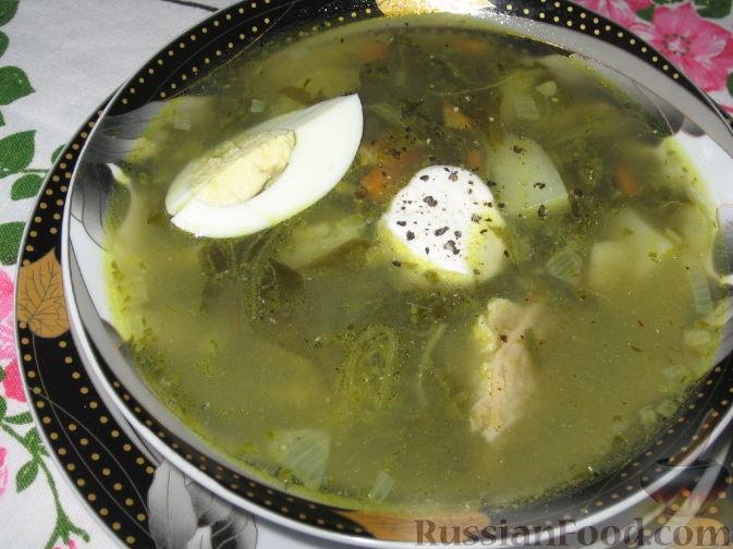 рецепт супа из щавеля с курицей