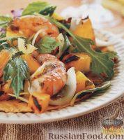 Фото к рецепту: Салат с креветками и ананасом