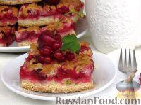 Фото к рецепту: Пирог с черешней и красной смородиной