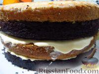 Фото приготовления рецепта: Большой праздничный торт - шаг №12