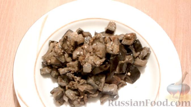 Блюда из баклажанов грибов и лука