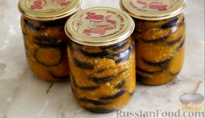 Как приготовить салат из баклажанов на зиму