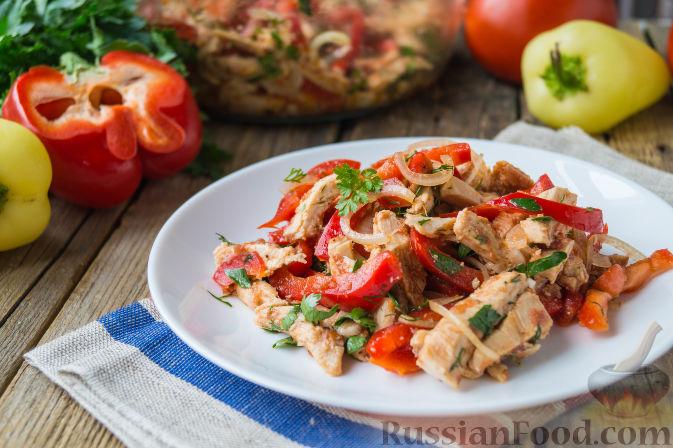 салат с курицей и болгарским перцем рецепт