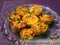 Фото к рецепту: Кабачки, фаршированные грибами и овощами