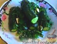 Фото к рецепту: Огурцы малосольные (в пакете)