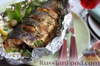 Фото к рецепту: Горбуша с прованскими травами (в фольге)