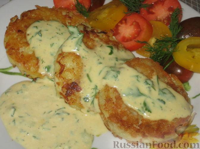 Рецепт Картофельно-рыбные оладьи
