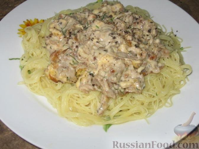 Сырно грибной соус для спагетти