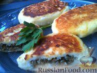 Фото к рецепту: Картофельные зразы с баклажанами