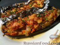 Фото к рецепту: Запеченные баклажаны, фаршированные овощами