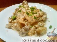 Фото приготовления рецепта: Баклажаны, тушенные в сметане - шаг №8