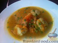 Фото к рецепту: Суп с рисовыми клецками и болгарским перцем