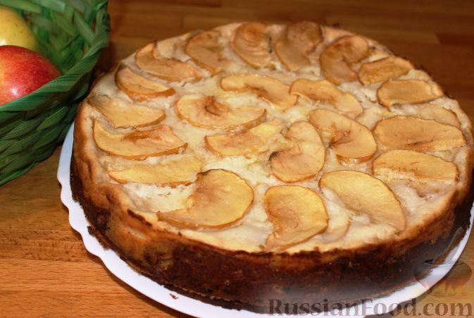 Пирог яблочно творожный рецепт