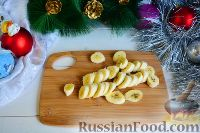 """Фото приготовления рецепта: Фруктовый салат """"Новогодняя ёлка"""" - шаг №2"""