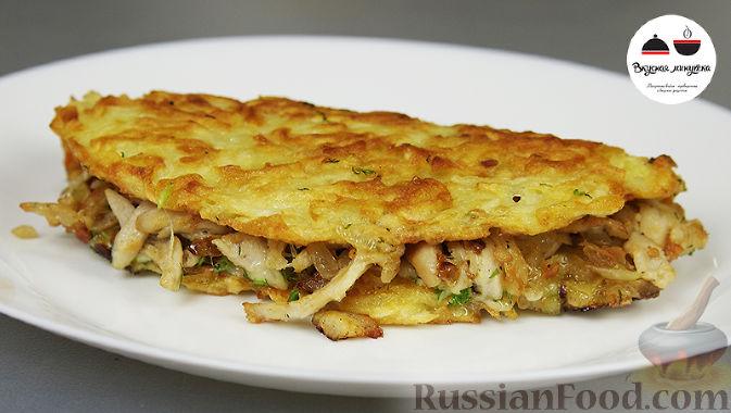 Драники из картошки с мясом рецепт