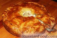 Курник с рубленым мясом и картофелем - рецепт пошаговый с фото